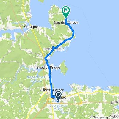 150 Riverside Dr, Shediac to 2212 Route 530, Grande-Digue