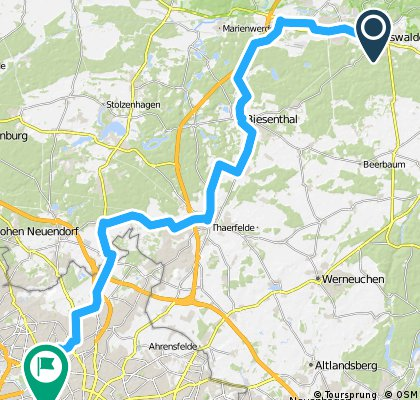 Eberswalde-Wedding über Finowfurt/Biesenthal