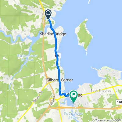 3921 Route 134, Shediac Bridge to 150 Riverside Dr, Shediac