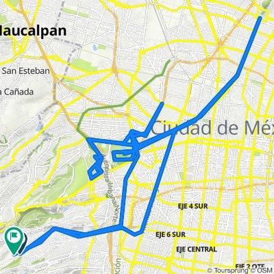 De Avenida Gustavo Díaz Ordaz 28, Ciudad de México a Ciruelo 130, Ciudad de México