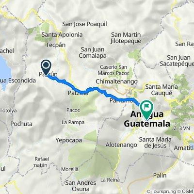 Ruta a 5a Calle Oriente, Antigua Guatemala