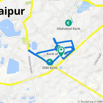 Tagore Nagar Main Road, Raipur to Tagore Nagar Main Road, Raipur