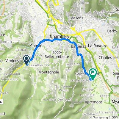 De 620B Route de la Désertaz, Saint-Cassin à 54–240 Rue des Tenettes, Saint-Baldoph