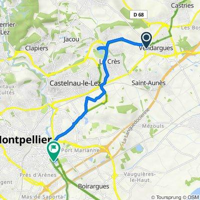 De 1–11 Rue de l'Orée du Bois, Vendargues à 29–33 Rue de Chio, Montpellier