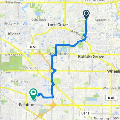 1701 N Buffalo Grove Rd, Buffalo Grove to 701–799 E Lincoln St, Palatine