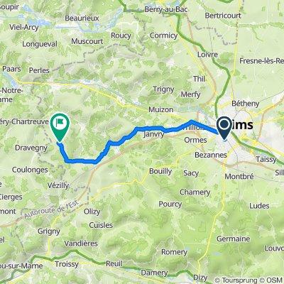 De 70 Rue de Dunkerque, Reims à 20–22 Grande Rue, Arcis-le-Ponsart