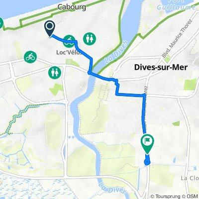 De 28 Avenue de la Paix, Cabourg à Boulevard Maurice Thorez, Dives-sur-Mer