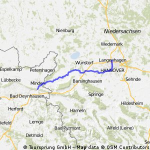 Porta Westfalica nach Hannover