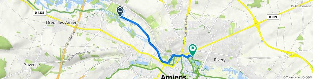Itinéraire vers 83 Rue des Bonnards, Amiens