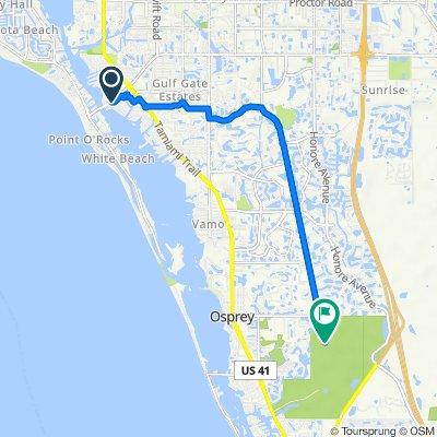 Avenue D, Sarasota to The Legacy Trail, Osprey