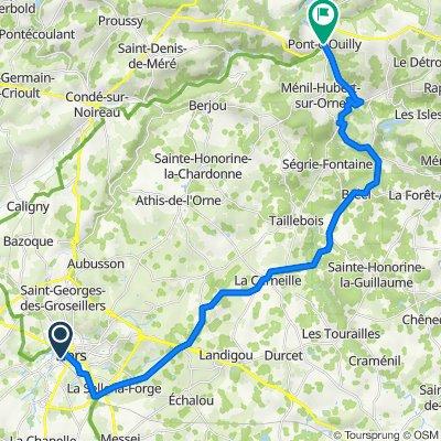 Pont d'Ouilly / La Roche d'Oëtre Flers