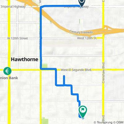 De 3406 W Imperial Hwy, Inglewood a 3334 W 139th St, Hawthorne