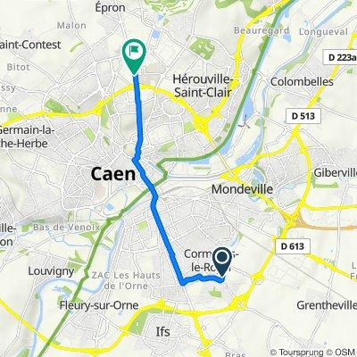 De 11 Rue de l'Industrie, Cormelles-le-Royal à Avenue de la Côte de Nacre, Caen