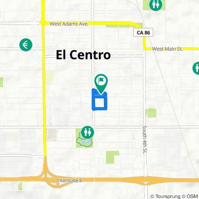 735 W Heil Ave, El Centro to 726 W Hamilton Ave, El Centro