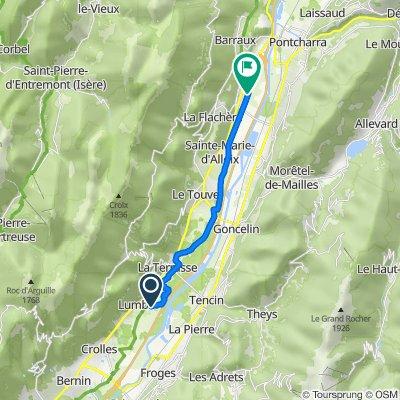 De Chemin Peyronard 271, Lumbin à Chemin de la Crosse, La Buissière