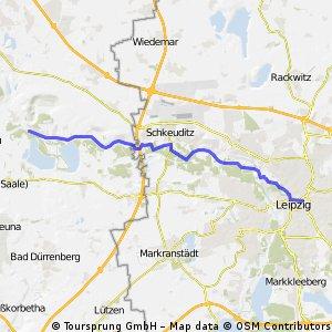 Auf dem Deich von Halle nach Leipzig CLONED FROM ROUTE 292322