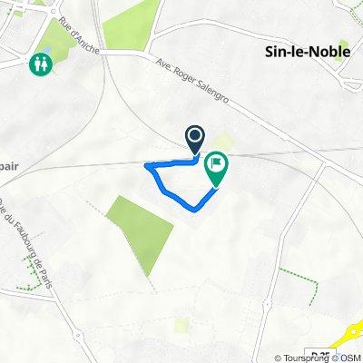 De Le Faubourg, Sin-le-Noble à 30 Rue d'Axat, Sin-le-Noble
