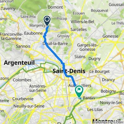 De 63B Chemin des Laitières, Soisy-sous-Montmorency à Rue des Écluses, Paris