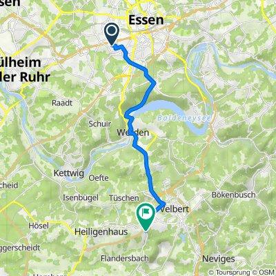 Hans-Thoma-Straße 3, Essen nach Am Brinkmannsbusch, Velbert