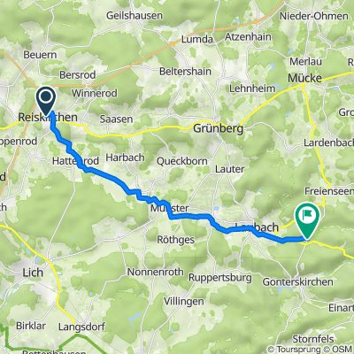 Reiskirchen nach K141, Laubach