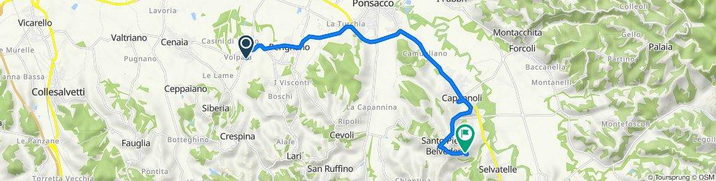 Da Via Sposini 17, Casciana Terme Lari a Via della Resistenza 60, San Pietro Belvedere
