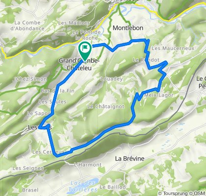 De 24 La Moilleseule, Grand'Combe-Châteleu à 13 La Moilleseule, Grand'Combe-Châteleu