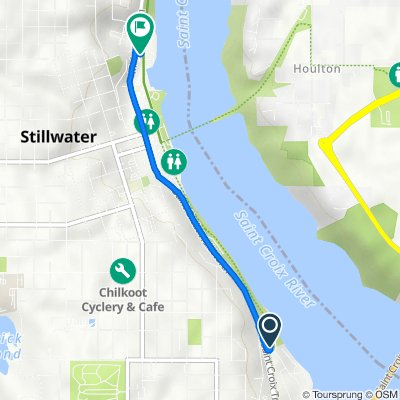 Route to Brown's Creek State Trail, Stillwater