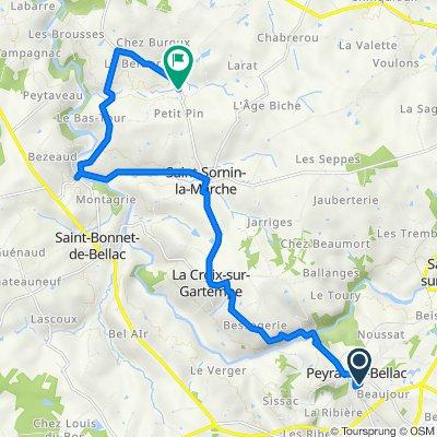 De Rue de la Colline 21, Peyrat-de-Bellac à D49, Saint-Sornin-la-Marche