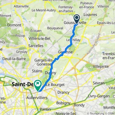 De 29 Rue Cyprien Samson, Goussainville à 1 Avenue Victor Hugo, La Courneuve