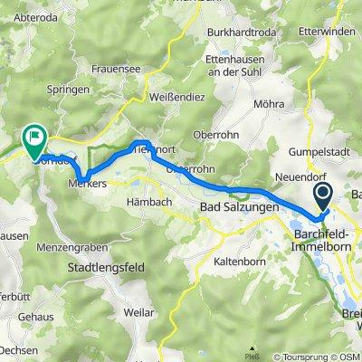 Am Eisberg 9, Barchfeld nach An der Liethe 3, Dorndorf