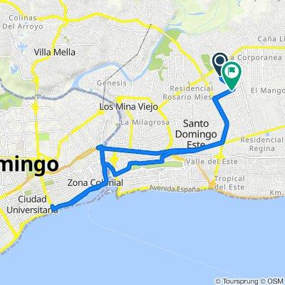 De Calle las Rosas 4b, Santo Domingo Este a G57H+CM9, Santo Domingo Este