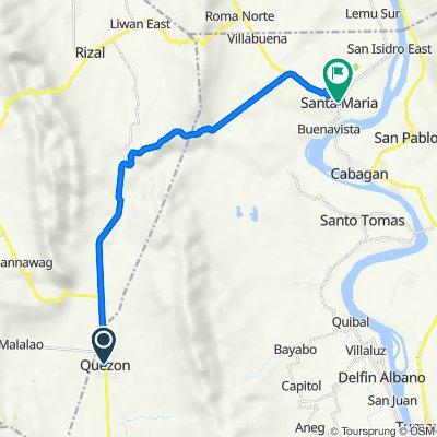Quezon to FQ92+HR8, Santa Maria