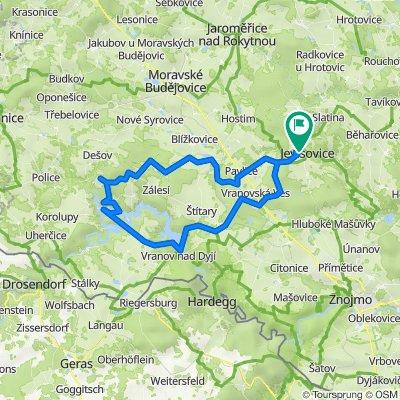 Jevisovice - Vranov - Bitov - 66 km