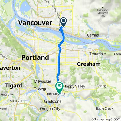 501 SE 123rd Ave, Vancouver to 16401–16479 SE Evelyn St, Clackamas