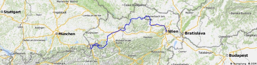 Salzburg-Traun-Kamp-Donau-Wien