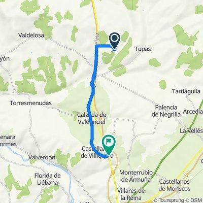 Ruta a Calle Dios Mercurio, Castellanos de Villiquera