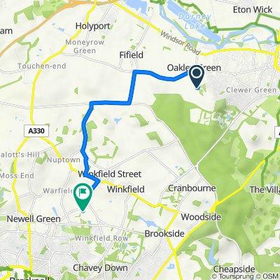 Tarbay Woods House, Tarbay Lane, Windsor to Brockgate Cottage, Cricketers Lane, Bracknell