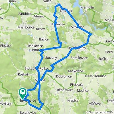 Jevisovice - Dalesice - Biskupice - 62 km