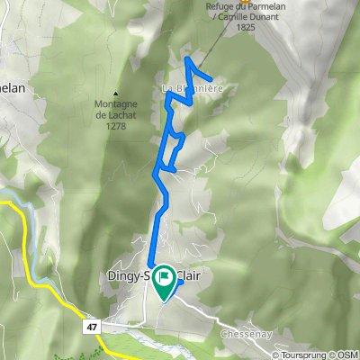 De Route de Provenat 170, Dingy-Saint-Clair à Route de Provenat 170, Dingy-Saint-Clair