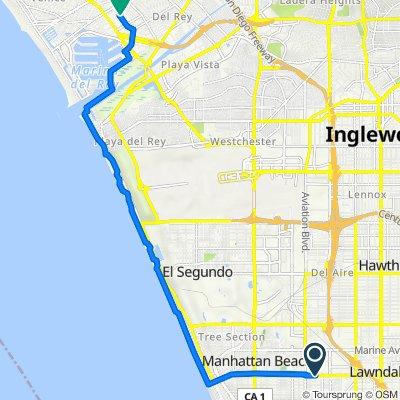 2022 Manhattan Beach Blvd, Redondo Beach to 4108 Glencoe Ave, Los Angeles