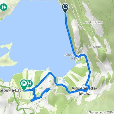1769–2483 Route du Lac, Aiguebelette-le-Lac nach Route d'Aiguebelette, Lépin-le-Lac
