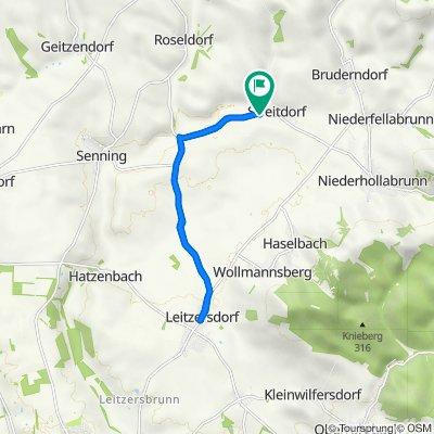 Route nach Obere Dorfstraße 29, Streitdorf