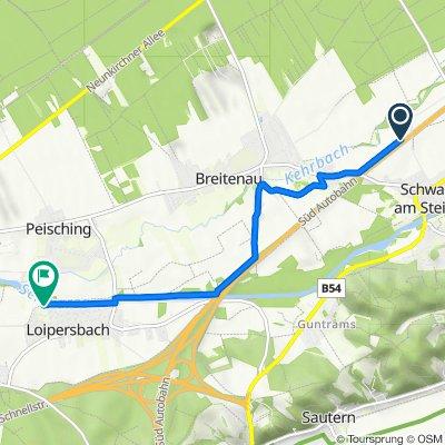Süd-Autobahn, Schwarzau am Steinfeld to Heugasse 9, Natschbach-Loipersbach