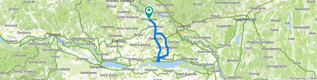Novakovec-Sv.Juraj u Trnju-Prelog(Marina)-Hodošan-Novakovec