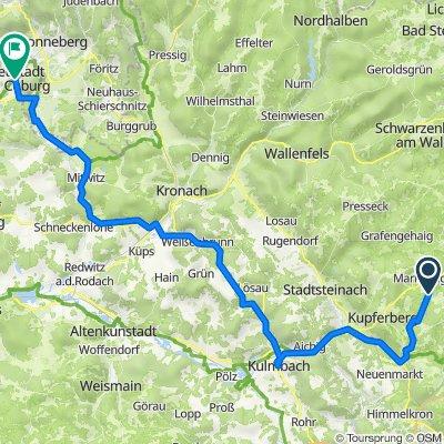 Marienweiher-Kulmbach-Neustadt bei Coburg