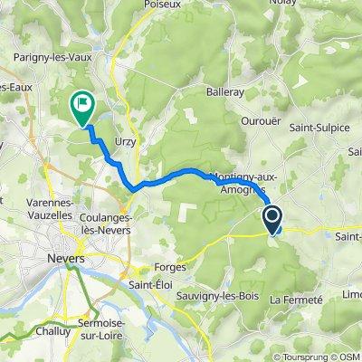 De Les Haies de ville 94, Saint-Jean-aux-Amognes à Crapa, Varennes-Vauzelles