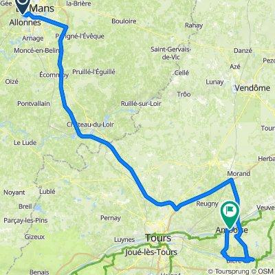 De Route du Folleray 141, Rouillon à Rue Montebello 21, Amboise