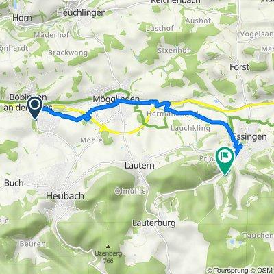Route von Scheuelbergstraße, Böbingen an der Rems