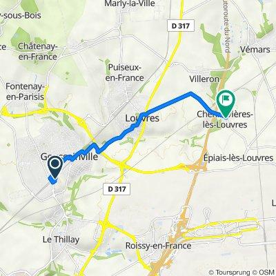 De 16 Rue Henriette, Goussainville à 1–3 Rue d'Épiais, Chennevières-lès-Louvres