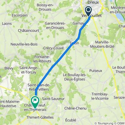 De 48 Rue George Sand, Vernouillet à 13–19 Rue Hubert Latham, Châteauneuf-en-Thymerais